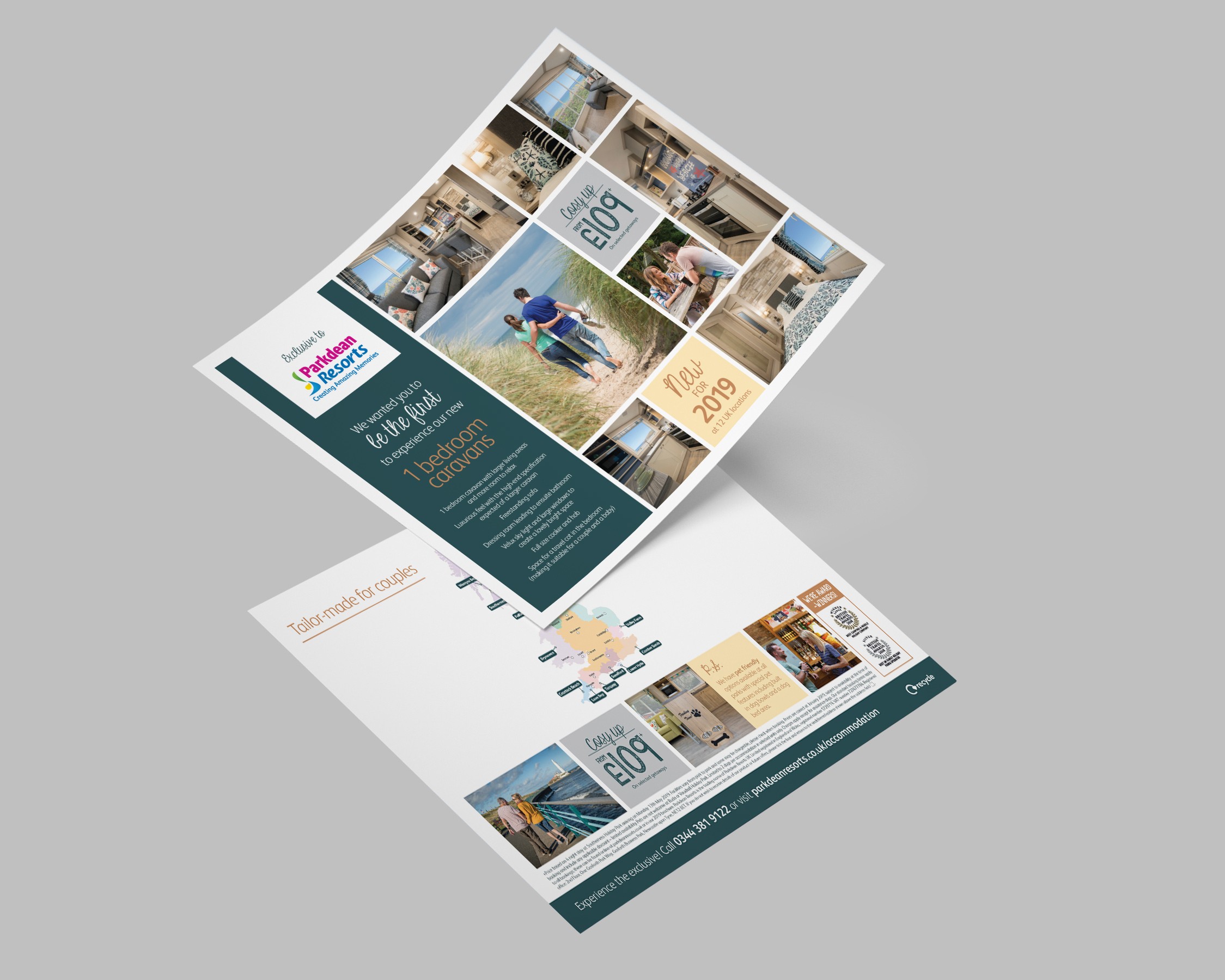 Parkdean Resorts Leaflet Mockup
